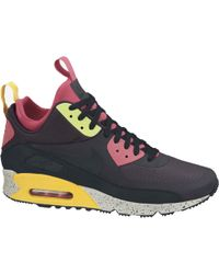Nike Air Max 90 Sneaker Boot In Gridiron/Black/Pink Force/Volt - Lyst
