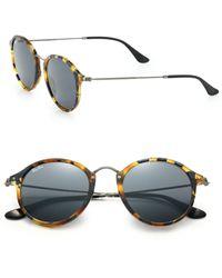 Ray-Ban 55Mm Round Sunglasses - Lyst