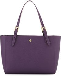Tory Burch - York Small Saffiano Leather Tote Bag - Lyst