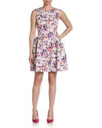Jill Stuart Vima Fit Flare Floralprint Dress - Lyst