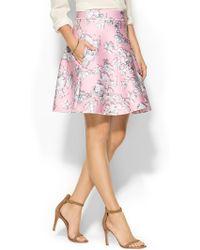 Cynthia Rowley Bonded A-Line Skirt - Lyst