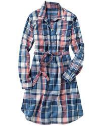 Gap Western Plaid Shirtdress - Lyst