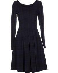 Jil Sander Navy Short Dress - Lyst
