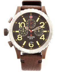 Nixon The 48-20 Chrono Leather Watch - Lyst