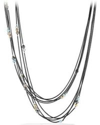 David Yurman Four-row Chain Necklace with Gold - Lyst