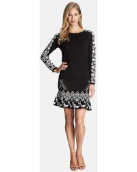 Cece by Cynthia Steffe - Jacquard Flounce Hem Sweater Skirt - Lyst