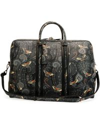 Givenchy Paisley-Print Leather Weekender Bag - Lyst