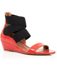 Delman - Elasticized Strap Wedge Sandals - Catch - Lyst