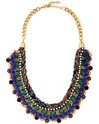 Zad Fashion Inc. Bead Still My Heart Necklace In Blue - Lyst