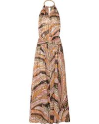 Emilio Pucci Backless Printed Silk-Blend Gown - Lyst