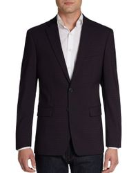 Calvin Klein Extreme Slim-Fit Checked Stretch Wool Sportcoat - Lyst