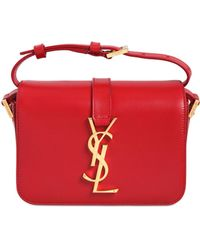 Saint Laurent Monogramme Leather Bag red - Lyst