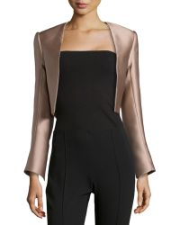 Carolina Herrera Scuba Satin Jacket - Lyst