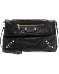 Balenciaga Giant 12 Envelope Leather Clutch - Lyst