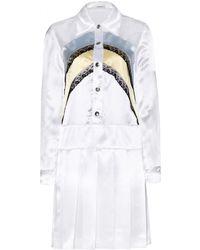 Miu Miu Satin And Lace Dress - Lyst