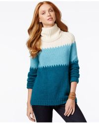 G.H.BASS - Colorblocked Tunic Sweater - Lyst