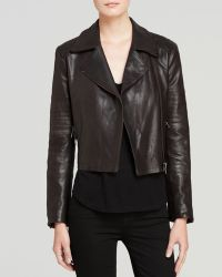 J Brand Jacket  Aiah Mercury Leather - Lyst
