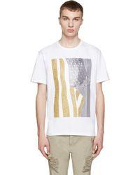 Palm Angels | White Flag T-shirt | Lyst