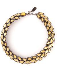 Yves Saint Laurent Vintage Blé Necklace - Lyst