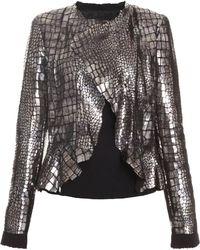 Isabel Marant Rami Leather Embossed Croc Jacket - Lyst