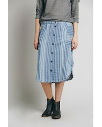 Free People Womens Train Of Love Skirt - Lyst