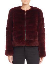 The Fur Salon | Collarless Rex Rabbit Fur Jacket | Lyst
