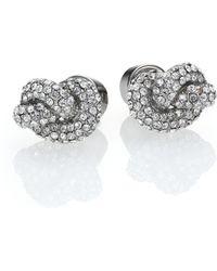 Michael Kors Brilliance Knots PavÉ Stud Earrings/Silvertone silver - Lyst