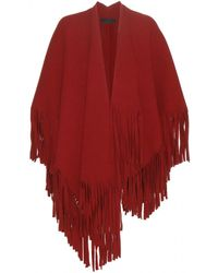 Burberry Prorsum - Wool-Blend Fringed Cape - Lyst