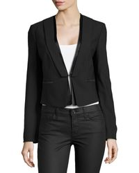 Michael Kors Short Tuxedo Jacket - Lyst