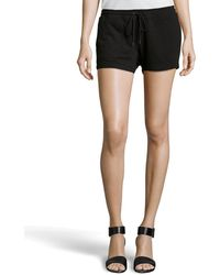 BCBGMAXAZRIA Philip Terry Cloth Drawstring Shorts - Lyst