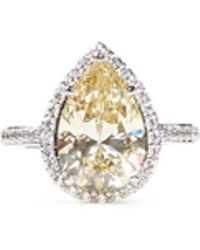 CZ by Kenneth Jay Lane - Pear Cut Cubic Zirconia Ring - Lyst