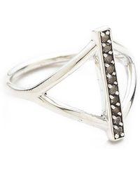 Pamela Love Aura Ring Silverwhite - Lyst