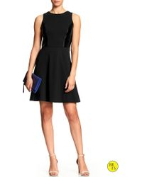 Banana Republic Factory Ponte Fit-And-Flare Dress - Lyst