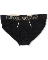 Emporio Armani Holiday Cotton Modal Brief - Lyst