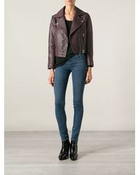 J Brand Blue Skinny Jeans - Lyst
