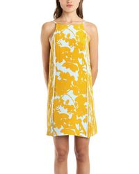 3.1 Phillip Lim Sundress With Pintucked Sides In Goldenrod blue - Lyst