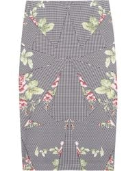McQ by Alexander McQueen Printed Stretch Stretchcotton Jersey Skirt - Lyst