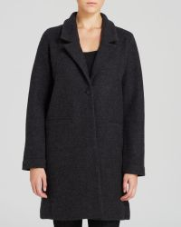 Eileen Fisher Long Wool Coat - Lyst