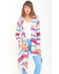 Goddis Linsey Hooded Wrap With Fringe multicolor - Lyst