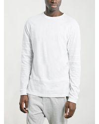 Topman White Panel Longsleeve Raglan T-shirt - Lyst