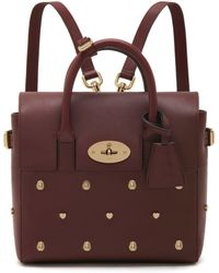 Mulberry Mini Cara Delevingne Bag With Rivets purple - Lyst