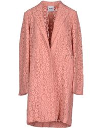 Moschino Cheap & Chic Full-Length Jacket pink - Lyst