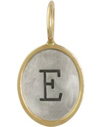 Heather Moore - Oval Sterling Silver/14K Yellow Gold Single Uppercase Initial Charm - Lyst