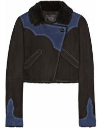 Isabel Marant Flavie Cropped Shearling Jacket - Lyst