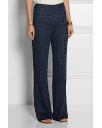 Missoni Crochet-knit Wide-leg Pants - Lyst