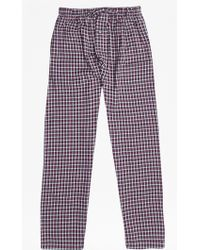 French Connection   Metal Core Check Lounge Pants   Lyst