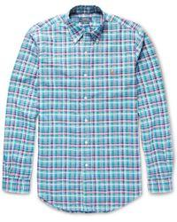 Polo Ralph Lauren Slimfit Check Cotton Oxford Shirt - Lyst