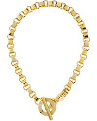 Marc By Marc Jacobs - Enamel Toggle Necklace Cream - Lyst
