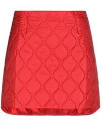Miu Miu Red Quilted Miniskirt - Lyst