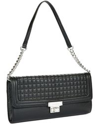 Calvin Klein Black Quilted Clutch - Lyst